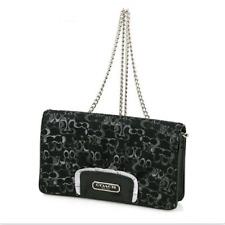 COACH Optic Art Lurex Evening Wallet Clutch  in BLACK  - Style#  F44144