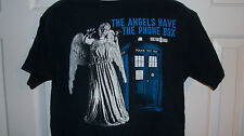 Official Licensed DOCTOR WHO WEEPING ANGEL STATUE & TARDIS SHIRT MEN'S Large