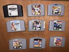 N64 Nintendo 64 Games Nfl Madden Top Gear Overdrive Nascar Nba Wcw Baseball Lot