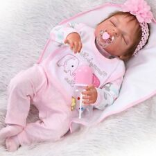 "22"" Full Body Silicone Vinyl Reborn Doll Lifelike Anatomically Correct Baby Girl"