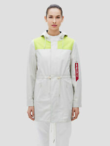 Alpha Industries Deluge Ripstop Fishtail Jacket White Women New WJD49000C1-101