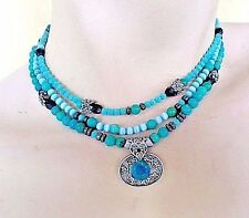 Design By Dana Turquoise Layered Necklace Three Strands One of a Kind