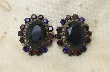 Sorrelli Simply Divine Collection Amethyst Purple Crystal Rhinestone Earrings