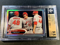 MIKE TROUT 2012 TOPPS CHROME #144 REFRACTOR PARALLEL CARD BGS 9.5 GEM MINT