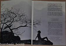 1961 magazine article, Angola AFRICA, natives, modern culture, mining etc