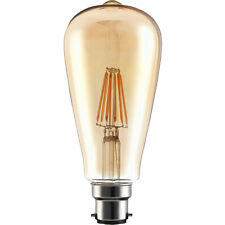 4w = 40w B22 / BC Culot à baionnette ST64 LED Filament d'or 2200k blanc chaud