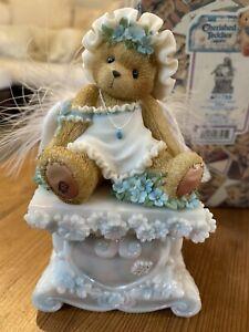 Cherished Teddies Willow Cherished Your Spirit Angel/Memorial Bear Pedestal 150
