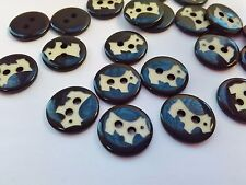 "10 Scottie Dog Buttons 13mm (1/2"") Dog Coat Pet Clothing Animal Sewing Buttons"