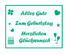 Schablone Schriftzüge ● Alles Gute ● Zum Geburtstag ● Herzlichen Glückwunsch