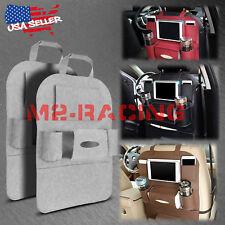 2Pcs Gray Car Seat Back Storage Bag Organizer Pocket Travel iPad iPhone Holder