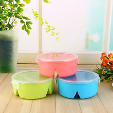 Children Kids Microwave Lunch Box Picnic Bento Food Storage Container With Spoon