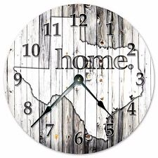 TEXAS RUSTIC HOME STATE CLOCK Huge 15.5 inch Clock_2253-16