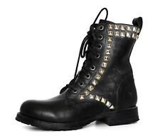 FRYE Rogan Studded Lace Tall Leather Boot Black Women Sz 6 B 4047 *