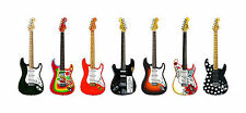 STRATOCASTER Chitarra Panorama STAMPA. 7 FAMOSA FENDER Stratocasters