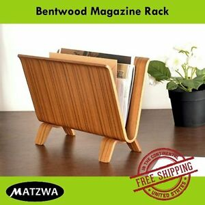 Bentwood Magazine Rack Mail Letter Office Paper Newspaper Folder Holder Stand