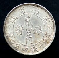 2 JIAO / 20 CENTS 1932 CHINE / CHINA YUNNAN (Argent / Silver)