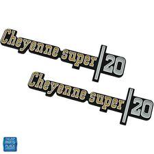 1973-1976 GM Chevy Cheyenne Super 20 Truck Front Fender Emblem GM 328858 PR