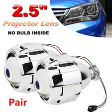 2XLHD 2.5''Car Mini HID Bi-xenon Projector Clear Lens Headlight Shroud H1 H4 H7