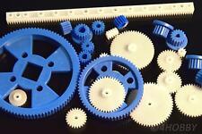 23-teiliges Zahnrad-Set Kunststoff verschiedene Größen, Zahnräder Modellbau RC