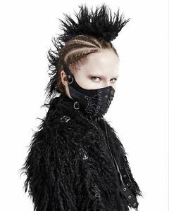 Punk Rave Vegan Leather Dieselpunk Face Mask