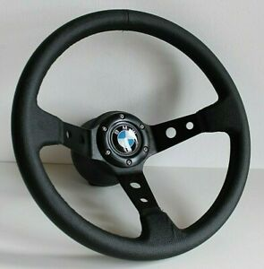 Steering Wheel BMW Sport Deep Dish Full  Black Leather E32 E34 E36 Z3 1992-1998