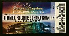 Lional Richie w Chaka Khan 10/29/2006 Promo Ticket Sears Center While Supplies!