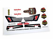 MASK stickers for KENNER M.A.S.K BULLET Personalized + BONUS