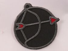 Embroidered Horoscope Astrology Red Black Sagittarius Archer Sign Patch Iron On