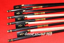 5pc NEW PRO light carbon fiber 4/4 cello bow copper parts 2 black+3 white