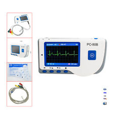 PC-80B Exam Scan Full Color Screen ECG EKG Heart Beat Monitor For Travel Home