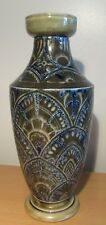 Rare Early Antique Martin Brothers Vase Dated 1879 -  With Incised Decoration