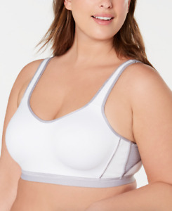 Wacoal White U'Sport Breathable Mesh-Panel Sports Bra Size 36D 56415