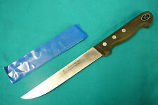 VINTAGE NOS SOLINGEN GERMAN GUSTAV EMIL ERN #3652 CARBON STEEL WIDE BONING KNIFE