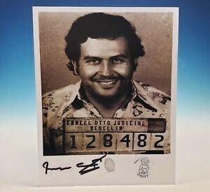 Pablo Escobar Mugshot Photo Autograph Signed Brother Roberto Fingerprint Narcos