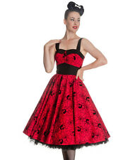 Hell Bunny Black Widow 1950s Dress in Red and Black