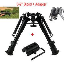 Xhunter 6-9'' Tactical Rifle Bipod Adjustable Shooting + 20mm Rail Mount Adapter