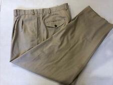L. L. Bean Men's Beige Solid Cotton Casual Pants 40X30 $98