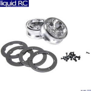 Losi A7020 2.2 Beadlock Wheels Chrome with Rings: CCR