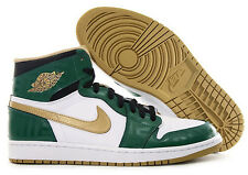 Nike Air Jordan I Retro 1 High OG Celtics size 10. Green Gold. Bred Black toe qs