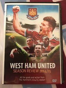 WEST HAM UNITED, FINAL 2014/15 SEASON REVIEW DVD, FAREWELL BOLEYN, UPTON PARK