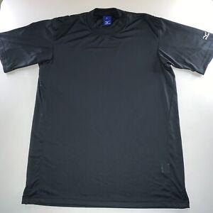 Men's Mizuno Osaka Japan Logo Athliesure Activewear Shirt Black Size X Large NEW