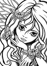 Fairy Fae Girl Unmounted Rubber Stamp