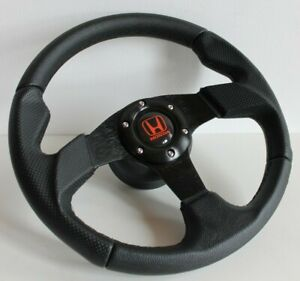 Steering Wheel Fits HONDA Civic Integra Accord Prelude CRX Sol Leather 93-2000