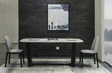 Marble Dinner Table Wood Designer Furniture Living Room New 3 Sizes Available