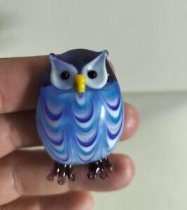 Vintage Murano Art Glass Owl Figurine