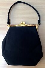Vintage Ingber Handbag With Art Deco Style Gold Clasp
