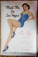 Meet Me In Las Vegas Linen Backed one sheet poster 27x41 inches