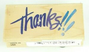 Wood Rubber Stamps Thanks!!! DIY Scrapbooking Arts Card Making