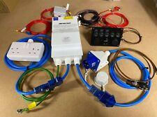 230v 240v 12v PRE WIRED Electric Hook Up Kit For Self Build Campervan Conversion