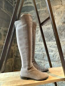 Stuart Weitzman Taupe 50/50 Over-the-Knee Suede Riding Boots - Size 7